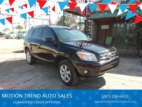 2006 Toyota RAV4 for sale at MOTION TREND AUTO SALES in Tomball TX
