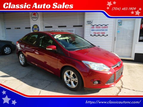 2014 Ford Focus for sale at Classic Auto Sales in Maiden NC