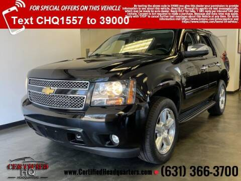 2013 Chevrolet Tahoe for sale at CERTIFIED HEADQUARTERS in Saint James NY