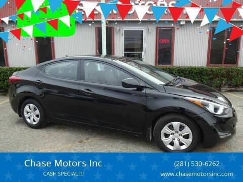 2016 Hyundai Elantra for sale at Chase Motors Inc in Stafford TX