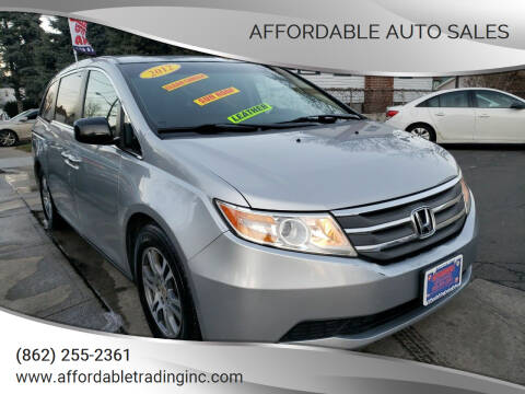 2012 Honda Odyssey for sale at Affordable Auto Sales in Irvington NJ