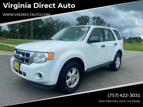 2012 Ford Escape for sale at Virginia Direct Auto in Virginia Beach VA