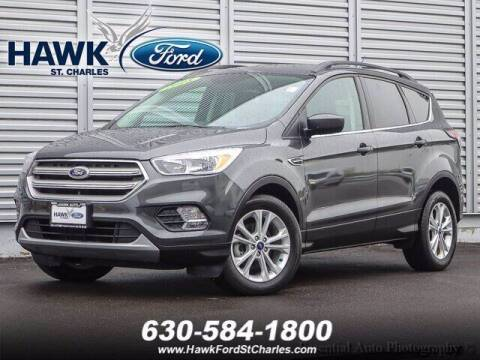 2018 Ford Escape for sale at Hawk Ford of St. Charles in St Charles IL