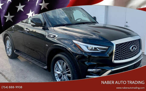 2019 Infiniti QX80 for sale at Naber Auto Trading in Hollywood FL