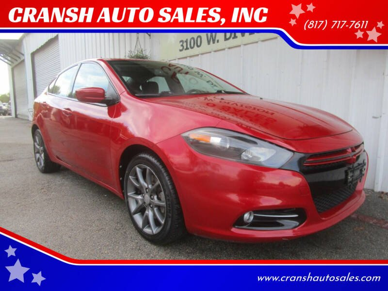 2013 Dodge Dart for sale at CRANSH AUTO SALES, INC in Arlington TX