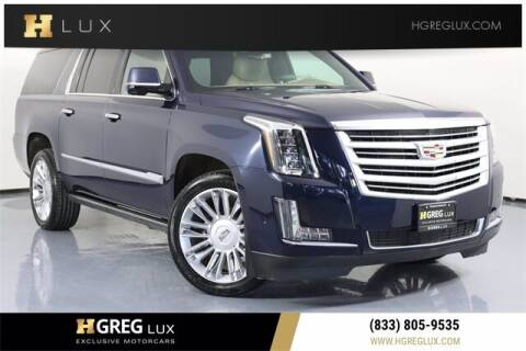 2018 Cadillac Escalade ESV for sale at HGREG LUX EXCLUSIVE MOTORCARS in Pompano Beach FL