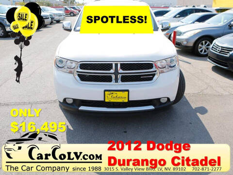 2012 Dodge Durango for sale at The Car Company in Las Vegas NV