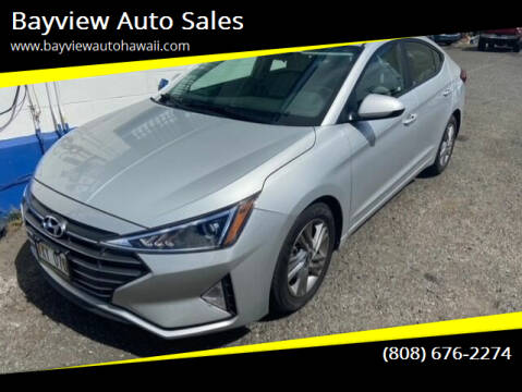 2020 Hyundai Elantra for sale at Bayview Auto Sales in Waipahu HI
