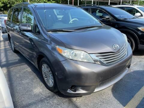 2013 Toyota Sienna for sale at America Auto Wholesale Inc in Miami FL
