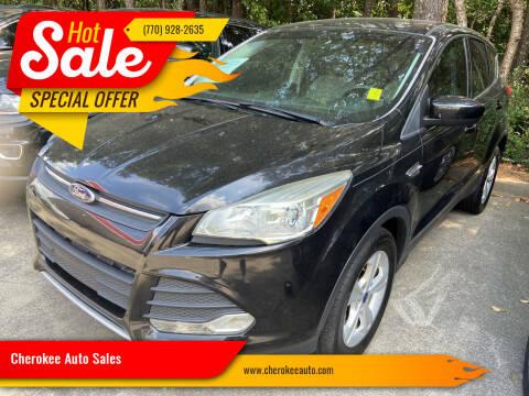 2015 Ford Escape for sale at Cherokee Auto Sales in Acworth GA