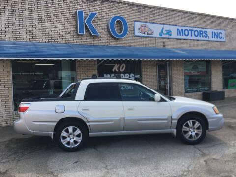 2004 Subaru Baja for sale at K O Motors in Akron OH