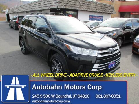 2019 Toyota Highlander for sale at Autobahn Motors Corp in Bountiful UT