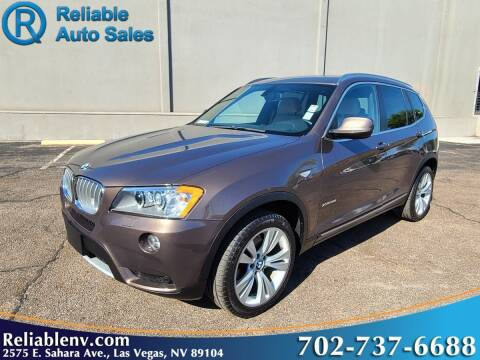 2012 BMW X3 for sale at Reliable Auto Sales in Las Vegas NV