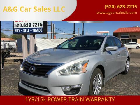 2015 Nissan Altima for sale at A&G Car Sales  LLC in Tucson AZ