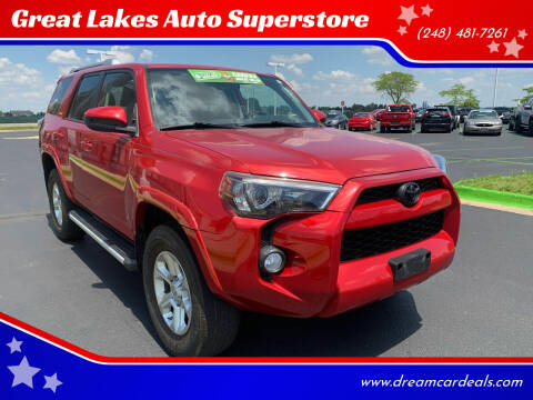 2014 Toyota 4Runner for sale at Great Lakes Auto Superstore in Waterford Township MI