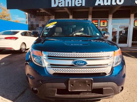 2012 Ford Explorer for sale at Daniel Auto Sales inc in Clinton Township MI