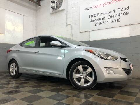2012 Hyundai Elantra for sale at County Car Credit in Cleveland OH