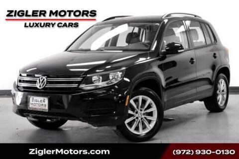 2017 Volkswagen Tiguan for sale at Zigler Motors in Addison TX