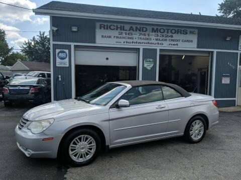 2008 Chrysler Sebring for sale at Richland Motors in Cleveland OH