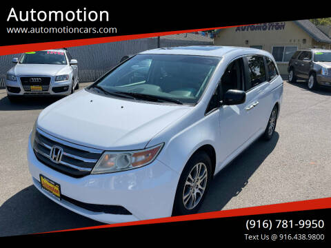 2012 Honda Odyssey for sale at Automotion in Roseville CA