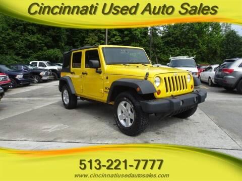 2009 Jeep Wrangler Unlimited for sale at Cincinnati Used Auto Sales in Cincinnati OH