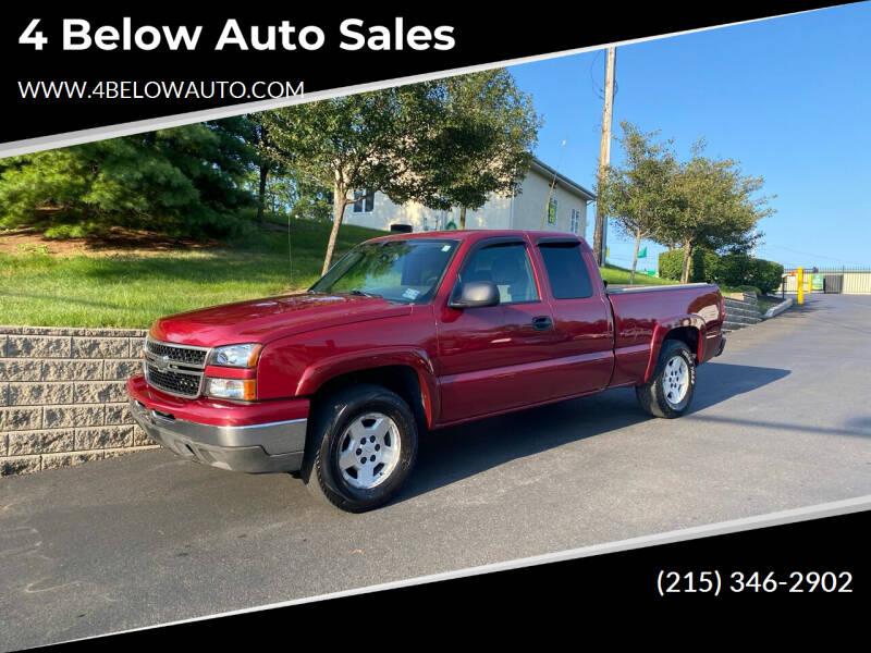 2006 Chevrolet Silverado 1500 for sale at 4 Below Auto Sales in Willow Grove PA