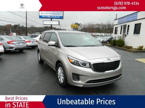 2016 Kia Sedona for sale at S & S Motors in Marietta GA