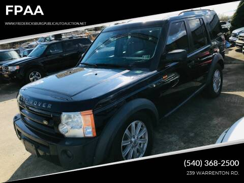 2007 Land Rover LR3 for sale at FPAA in Fredericksburg VA