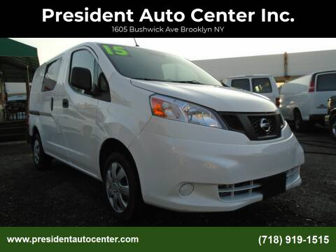 2015 Nissan NV200 for sale at President Auto Center Inc. in Brooklyn NY
