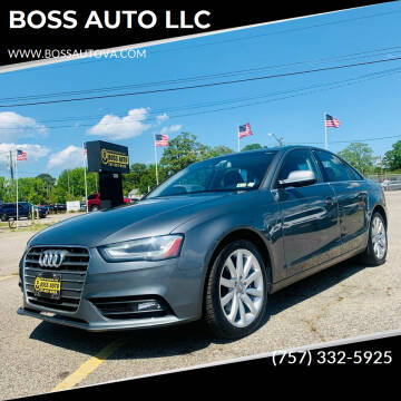 2013 Audi A4 for sale at BOSS AUTO LLC in Norfolk VA