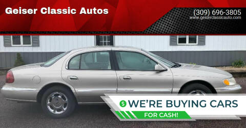 2000 Lincoln Continental for sale at Geiser Classic Autos in Roanoke IL