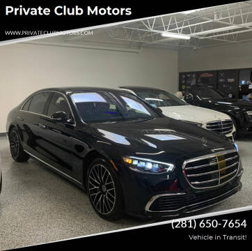 2021 Mercedes-Benz S-Class for sale at Private Club Motors in Houston TX