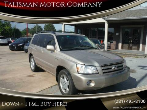 2004 Toyota Highlander for sale at Don Jacobson Automobiles in Houston TX
