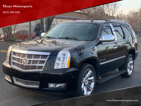 2011 Cadillac Escalade for sale at Klean Motorsports in Skokie IL