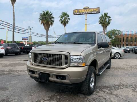 2004 Ford Excursion for sale at A MOTORS SALES AND FINANCE in San Antonio TX