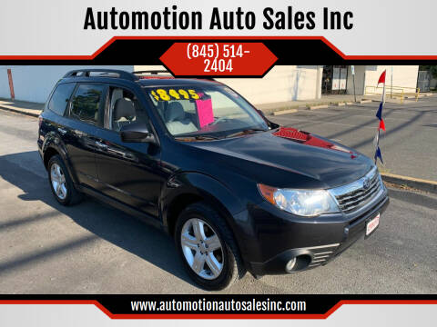 2009 Subaru Forester for sale at Automotion Auto Sales Inc in Kingston NY