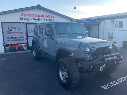 2014 Jeep Wrangler Unlimited for sale at Speed Auto Sales in El Cajon CA