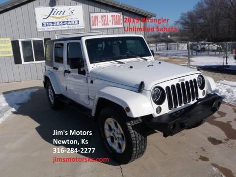 2015 Jeep Wrangler Unlimited for sale at Jim's Motors in Newton KS