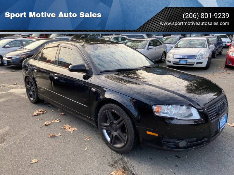 2007 Audi A4 for sale at Sport Motive Auto Sales in Seattle WA