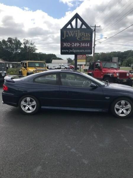 2005 Pontiac GTO for sale at J Wilgus Cars in Selbyville DE