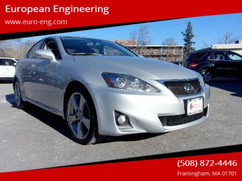 2013 Lexus IS 250 for sale at European Engineering in Framingham MA