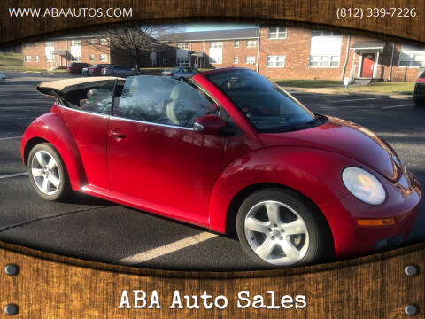 2007 Volkswagen New Beetle Convertible for sale at ABA Auto Sales in Bloomington IN