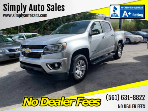 2015 Chevrolet Colorado for sale at Simply Auto Sales in Palm Beach Gardens FL