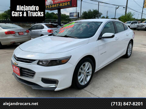 2018 Chevrolet Malibu for sale at Alejandro Cars & Trucks in Houston TX
