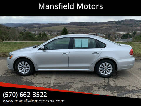 2014 Volkswagen Passat for sale at Mansfield Motors in Mansfield PA
