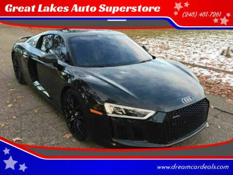 2017 Audi R8 for sale at Great Lakes Auto Superstore in Pontiac MI