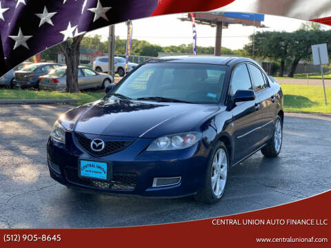 2008 Mazda MAZDA3 for sale at Central Union Auto Finance LLC in Austin TX