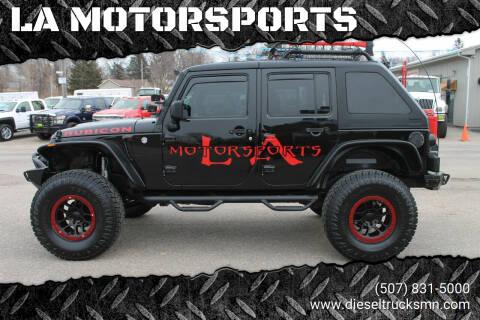 2016 Jeep Wrangler Unlimited for sale at LA MOTORSPORTS in Windom MN