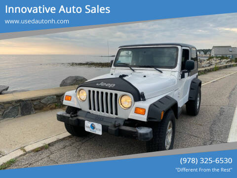 2003 Jeep Wrangler for sale at Innovative Auto Sales in North Hampton NH