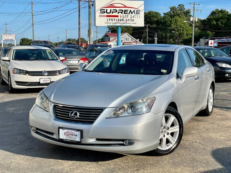 2007 Lexus ES 350 for sale at Supreme Auto Sales in Chesapeake VA
